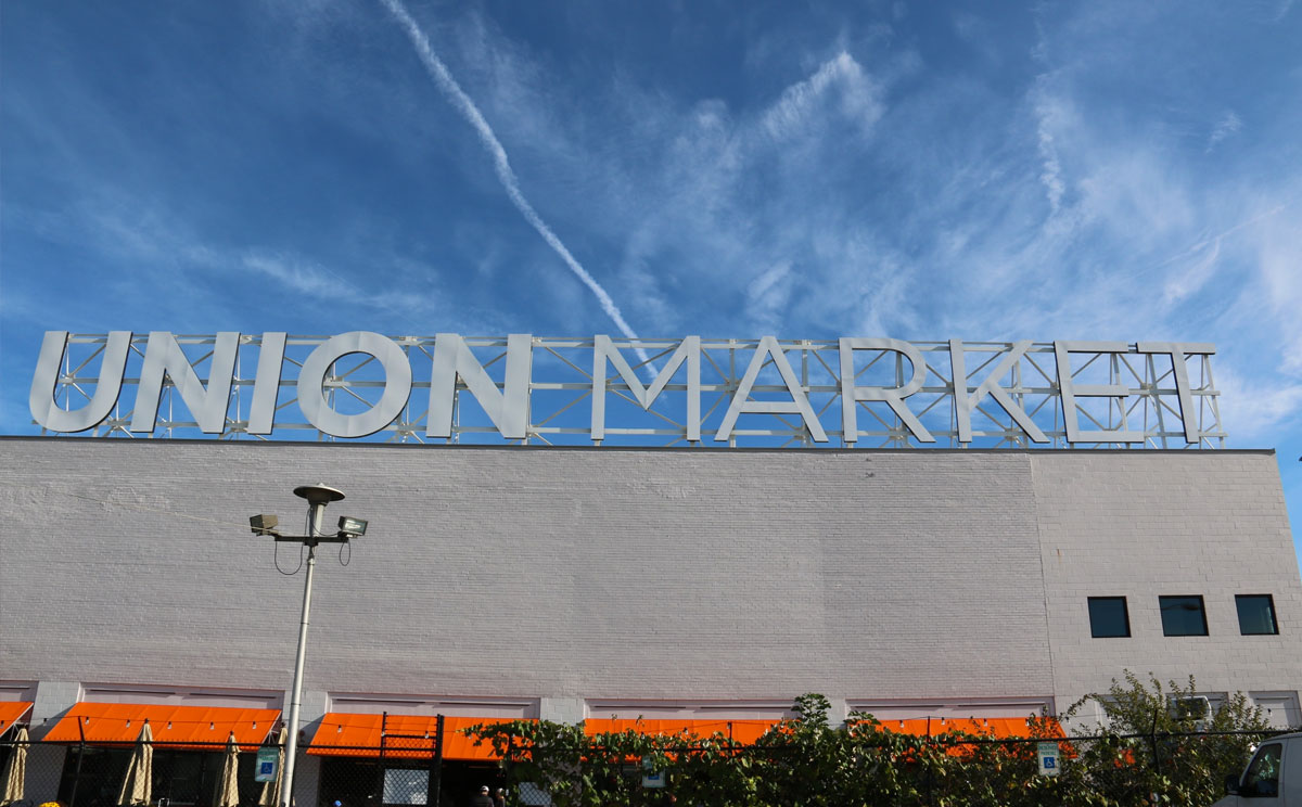 Union Market with 40+ local vendors in the NoMa neighborhood