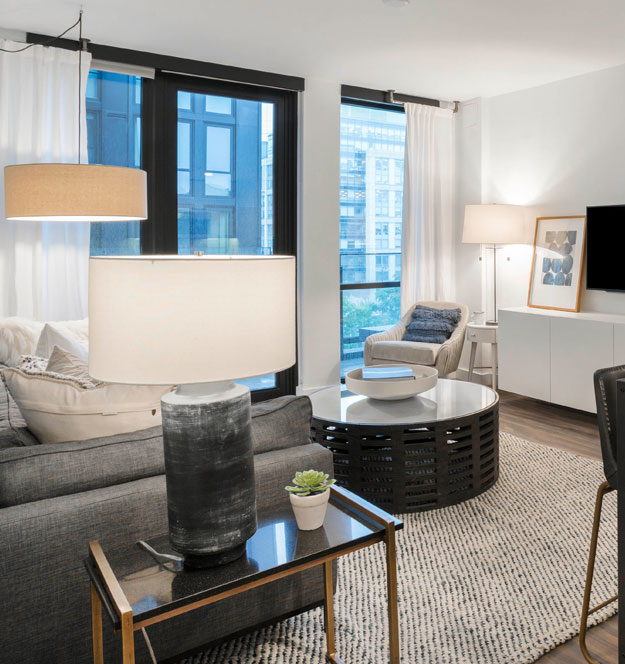 Two bedroom apartment floor plan in Washington, DC