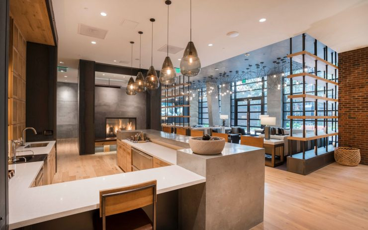 High-end private resident bar at The Belgard apartments