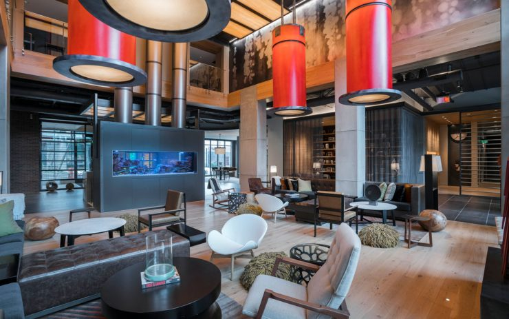 The Luxury leasing center at The Belgard with ample seating