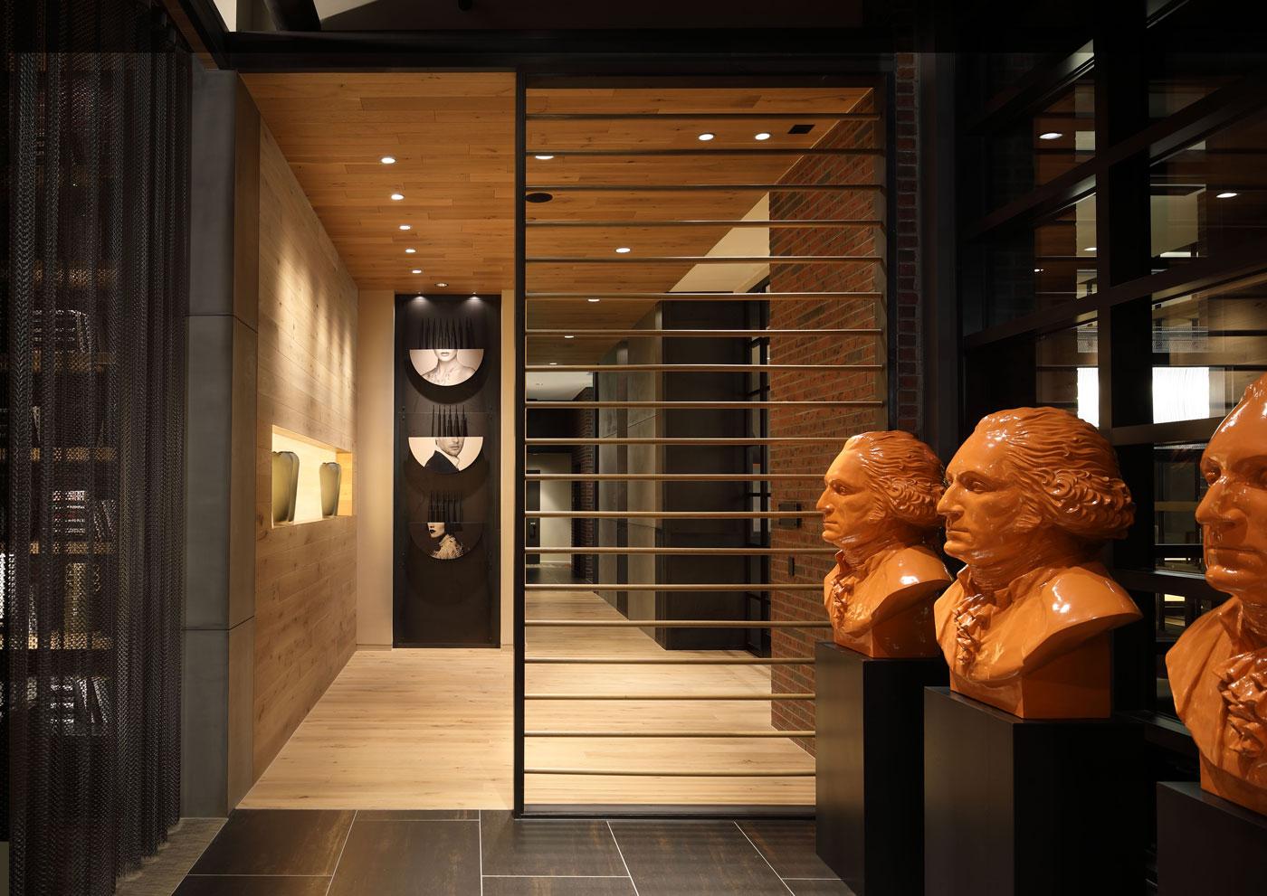 Luxury lobby in The Belgard in NoMa washington DC