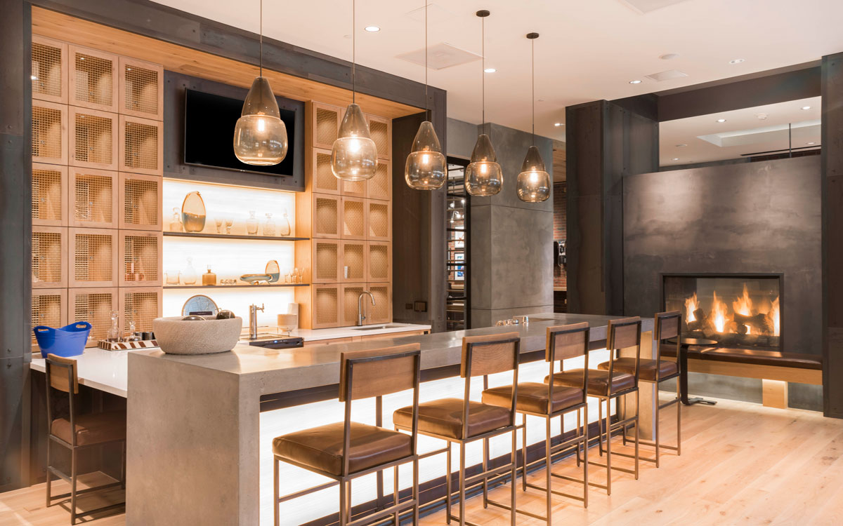 Modern resident bar at The Belgard Noma