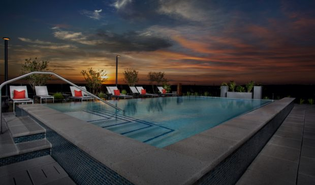 Rooftop pool at the Belgard NoMa