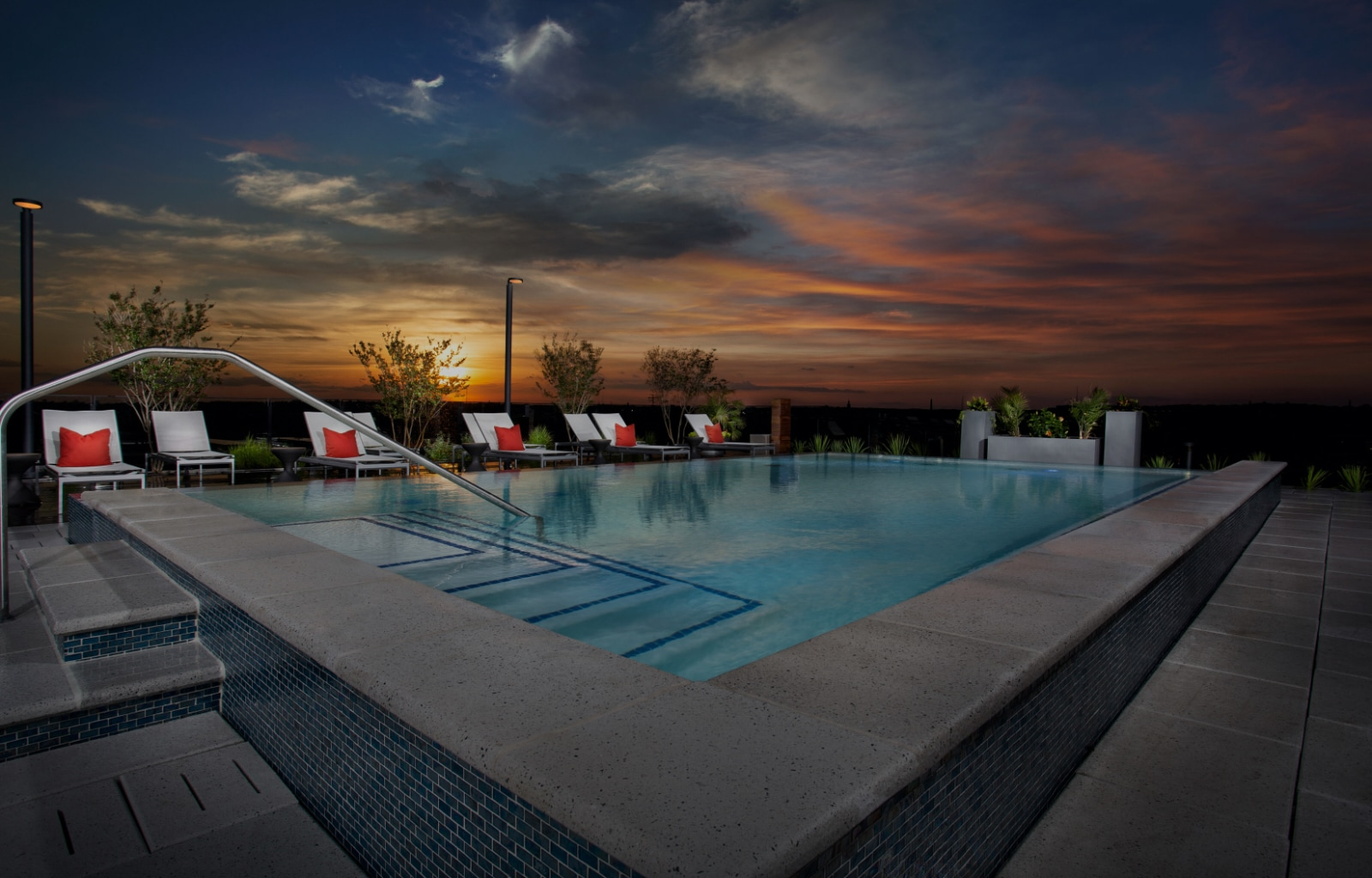 Rooftop pool at the Belgard NoMa