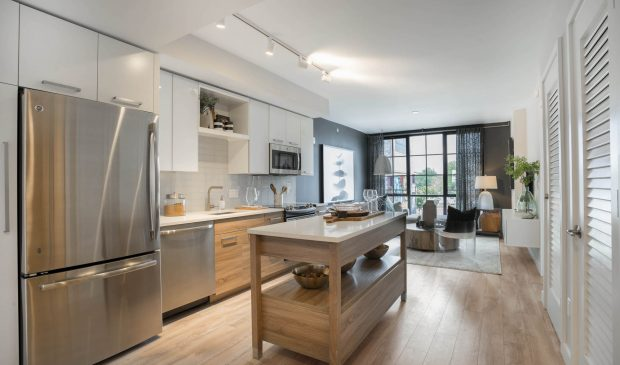 1 Bedroom Kitchen at the Belgard NoMa